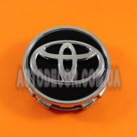 Колпачки заглушки на литые диски Toyota (62/56/15) черные