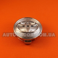 "Колпачки заглушки на литые диски Toyota (62/56/20) 6062K62 хром ""фреза"""