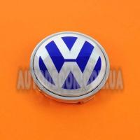 Колпачки заглушки на литые диски Volkswagen (56/52/7) 1j601171 синие