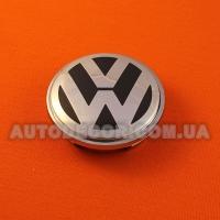 Колпачки заглушки на литые диски Volkswagen (65/56/12) 3B7 601 171 черный матовый