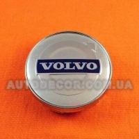 Колпачки заглушки на литые диски Volvo (60/56/10) silver
